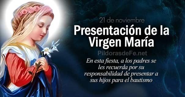 c8cc5f28f Fiesta de la presentación de la Virgen María en el Templo…