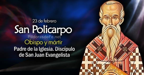 Resultado de imagen de parroquiaweb SAN POLICARPO, obispo y mártir