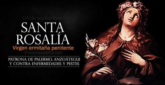 Resultado de imagen para Santa Rosalía santa