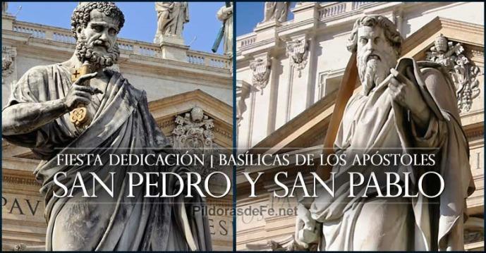 Resultado de imagen para Dedicación de las Basílicas de San Pedro y San Pablo