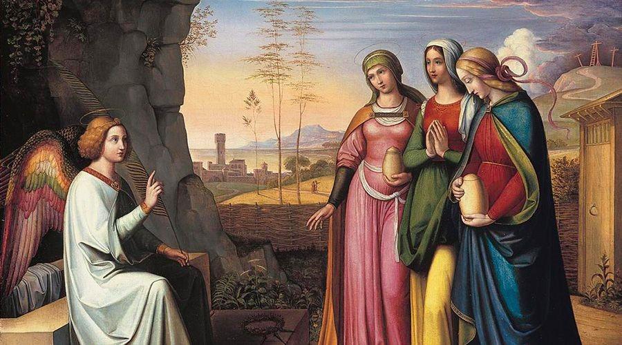 Mujeres en la tumba vacía